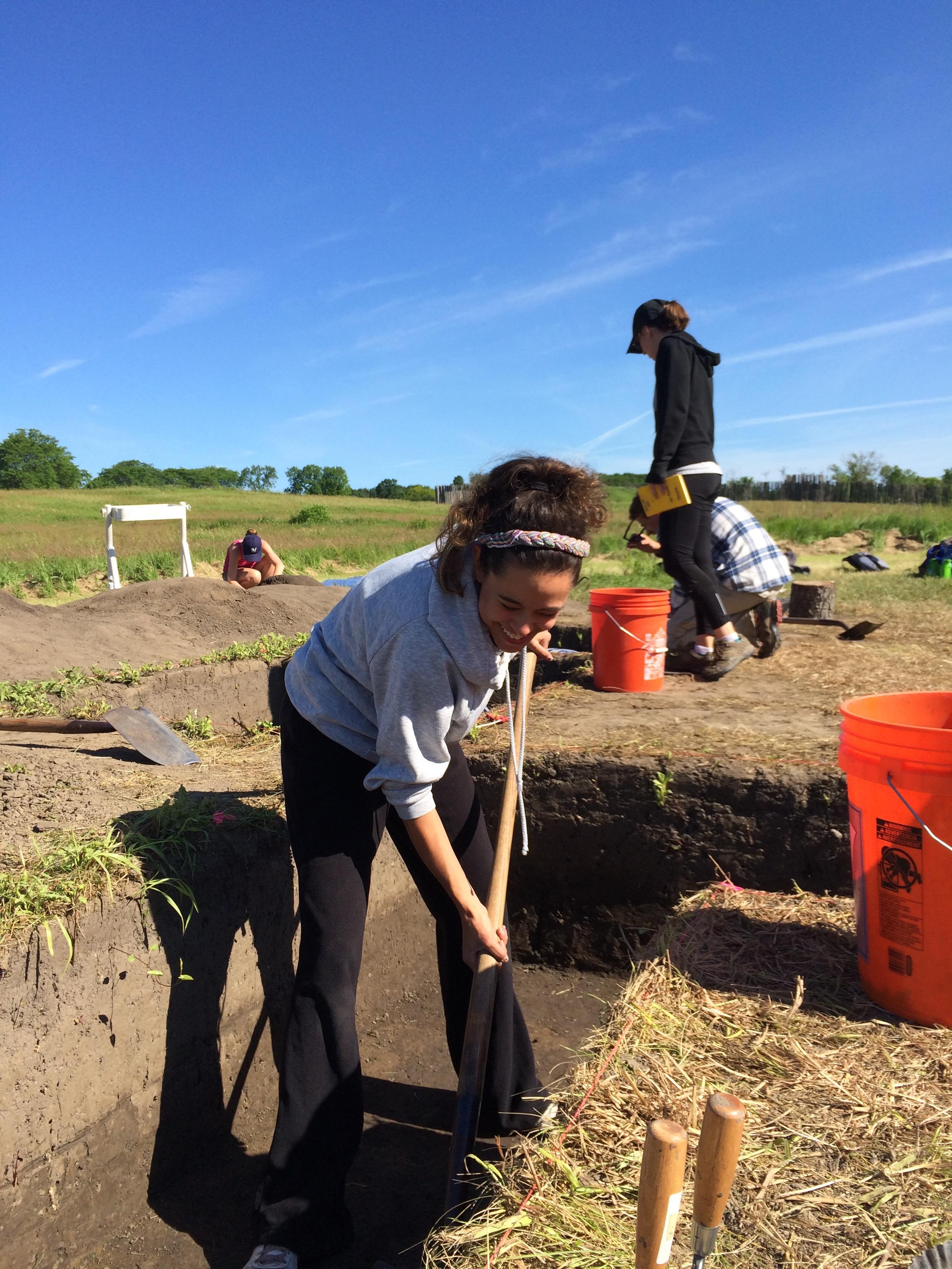 Excavation at Aztalan 2016