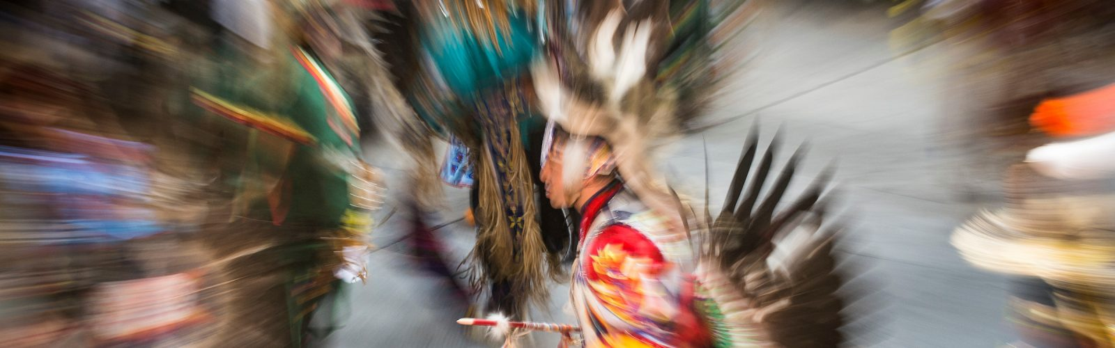Photograph of Native American Dance Ceremony at Powwow