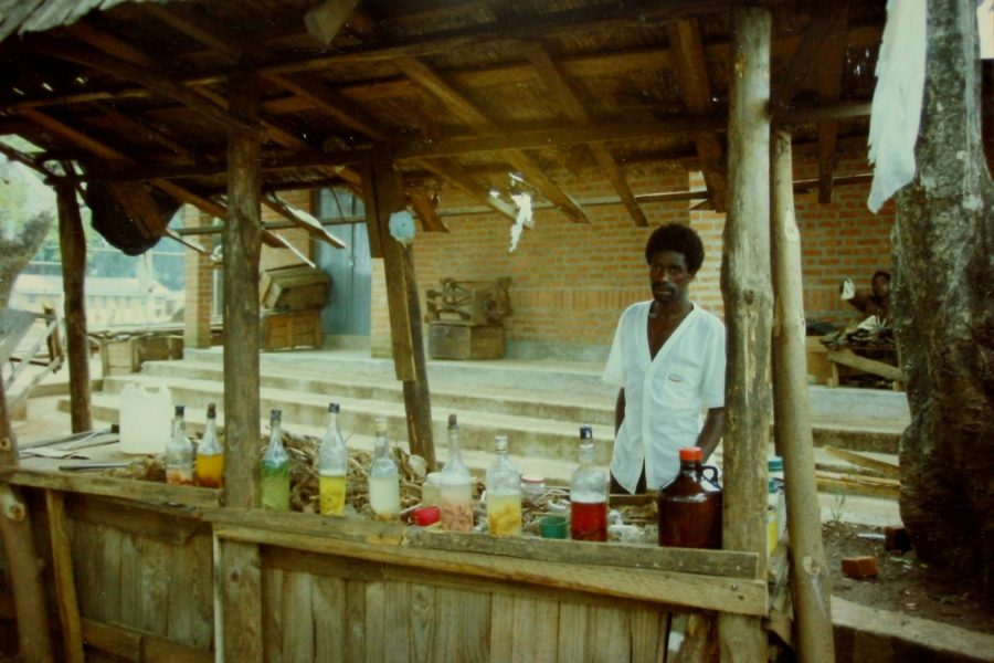 Zomba herbalist at his stand