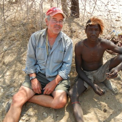 Henry Bunn with Hadza man