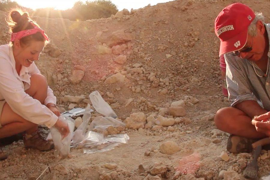 Henry Bunn and Sarah Traynor at Olduvai Gorge